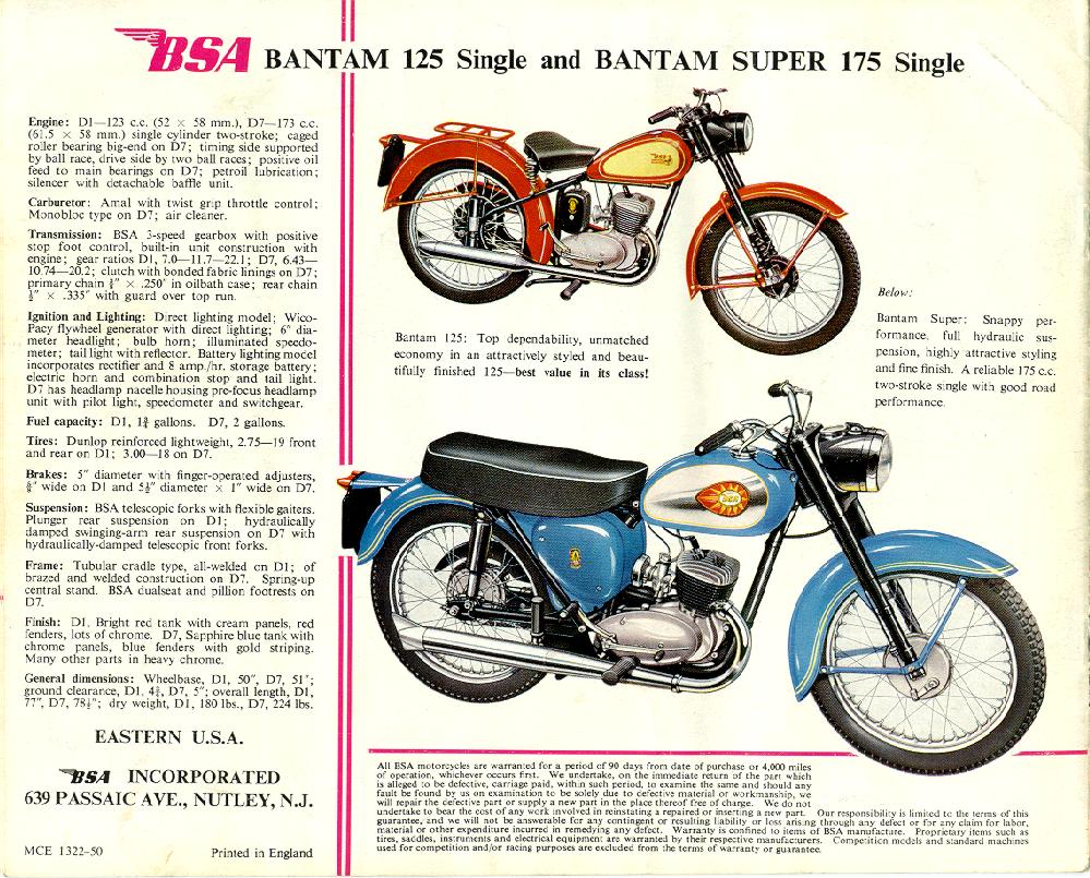 Bsa Bantam Resources Aircraft Mag O Wiring Diagram On Positive Ground Big Files 300k Each 1962 Usa Catalogue